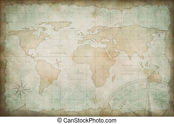 mapa, badanie, stary, przygoda, tło