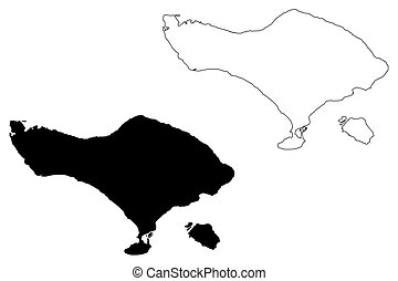 mapa, bali
