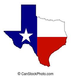 mapa, bandeira, texas, ícone