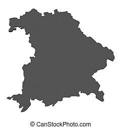 mapa, Baviera,  -, alemania