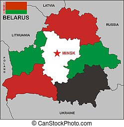 mapa, belarus