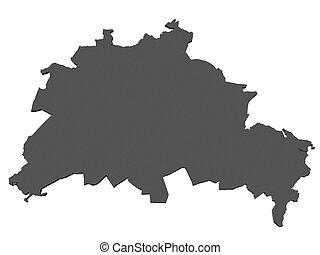 mapa,  Berlín,  -, alemania
