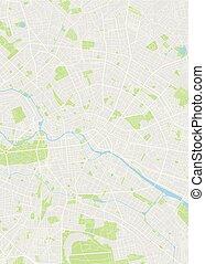 mapa, berlin, wektor, barwny