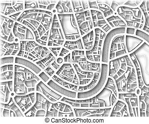 mapa, bezejmenný