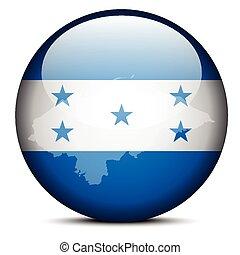 mapa, botón,  honduras, bandera