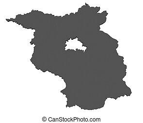 mapa,  Brandenburg,  -, alemania