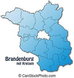 mapa, brandenburg
