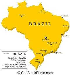 mapa, brazylia