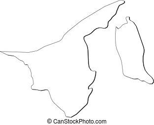 mapa, brunei