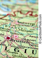 mapa, bruselas