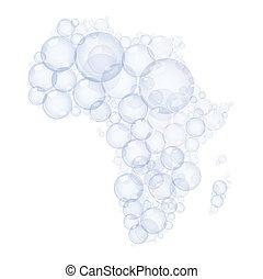 mapa, bublat, udělal, afrika