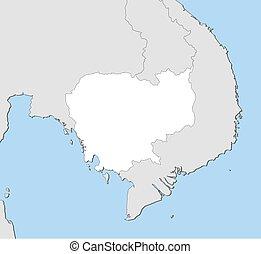 mapa, -, cambodia