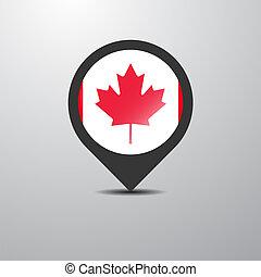 mapa canadá, alfiler