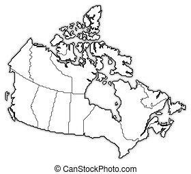 mapa canadá