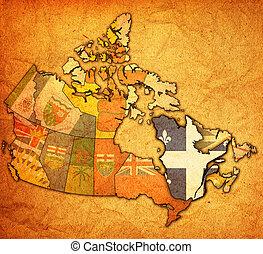 mapa canadá, quebec