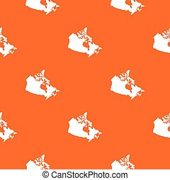 mapa canadá, seamless, padrão