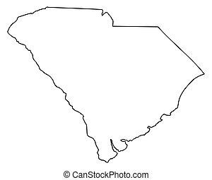 mapa, carolina del sur