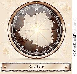 mapa, celle