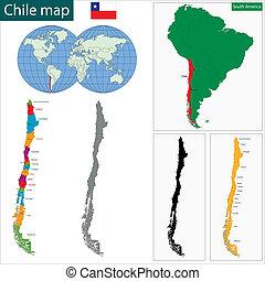mapa, chile