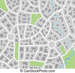 mapa, cidade