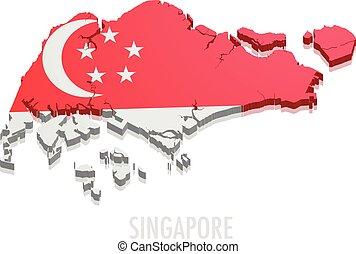 mapa, cingapura