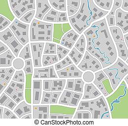 mapa, ciudad