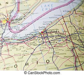 mapa, cleveland