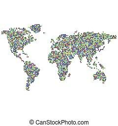 mapa, coloridos