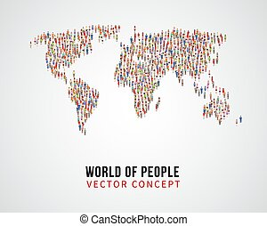 mapa, conceito, pessoas, conexão global, vetorial, terra,...