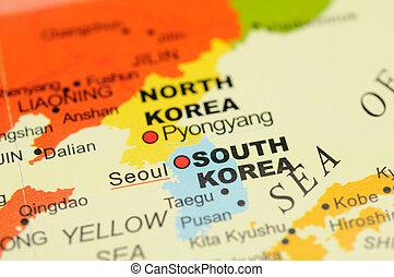 mapa, corea