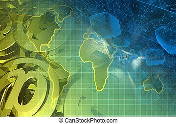 mapa, correo, señales