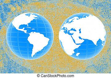 mapa, criativo, mundo
