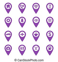 mapa, dát, usedlost, čípek, ikona