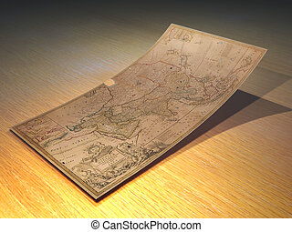 mapa, dávný