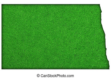 mapa, dakota del norte, el verde sentir