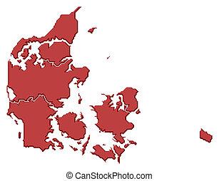 mapa, danmark