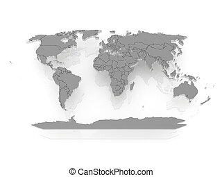 mapa, de, a, world.