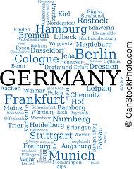 mapa, de, alemania