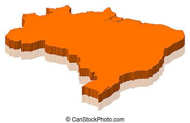 mapa, de, brasil