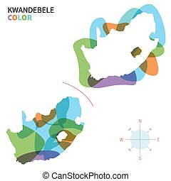 mapa de color, resumen, vector, kwandebele