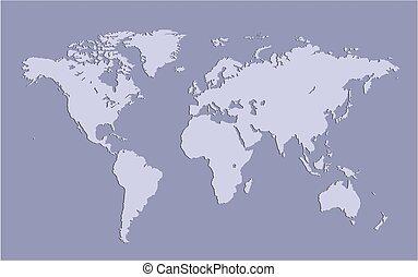 mapa, de, earth.