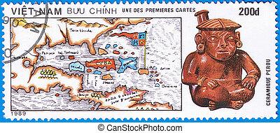 mapa, de, el, caribe