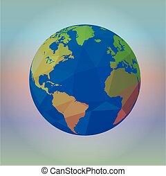mapa, de, el mundo, en, mancha, plano de fondo