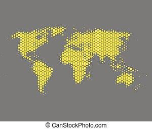 mapa, de, el mundo