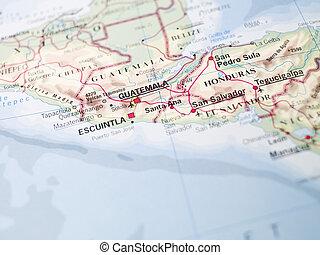 mapa, de, el, norte, de, sudamérica