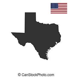 mapa, de, el, u..s.., estado de texas