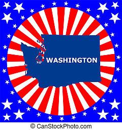 mapa, de, el, u..s.., estado de washington