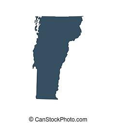 mapa, de, el, u..s.., estado, vermont