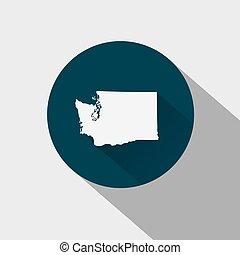 mapa, de, el, u..s.., estado, washington