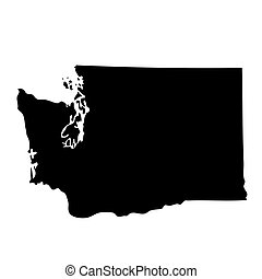mapa, de, el, u..s.., estado, washington